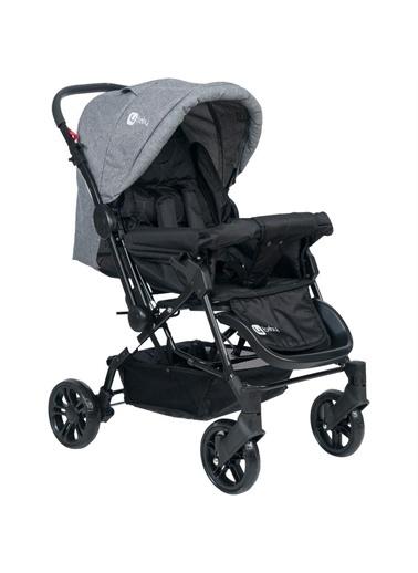 4 Baby 4 Baby Olympus Siyah Çift Yönlü Bebek Arabası Antrasit Gri
